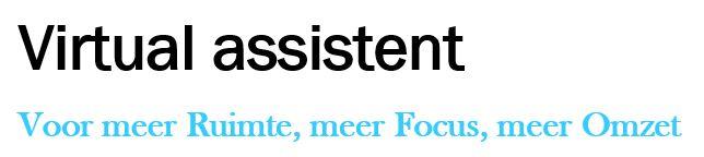 Saskia van der Krift - Virtual Assistent
